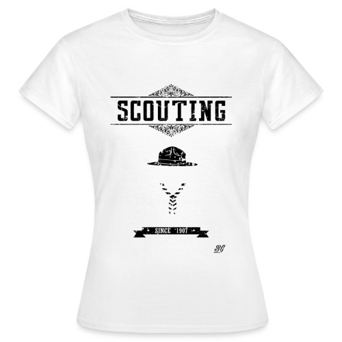 Tee shirt femme scout vintage - T-shirt Femme