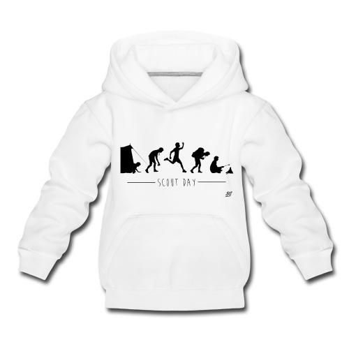 sweat enfant scout day -noir- - Pull à capuche Premium Enfant
