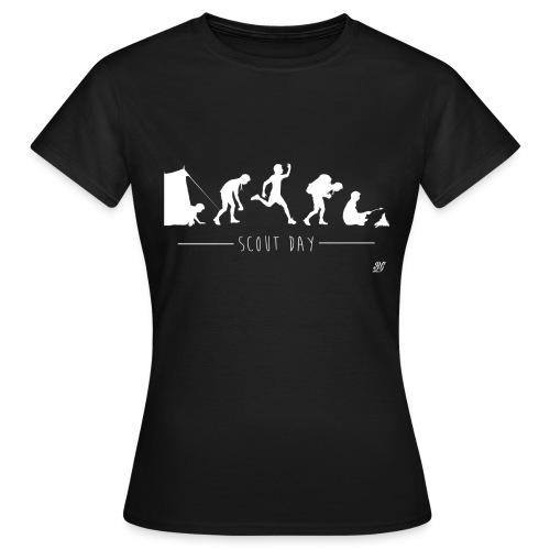 Tee shirt femme scout day -blanc- - T-shirt Femme