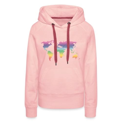 World Stripe CL - Vrouwen Premium hoodie