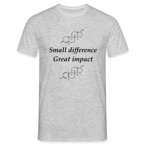 Testosterone vs Estrogen: Small difference, Great impact - Herre-T-shirt