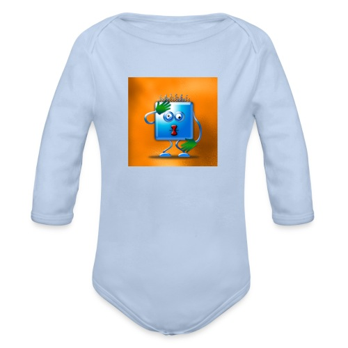 cubickly challenged - Organic Longsleeve Baby Bodysuit