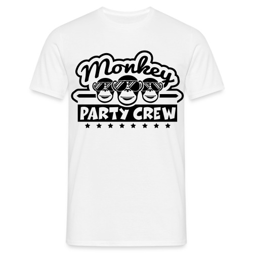 Männer T-Shirt Monkey Party Crew - Männer T-Shirt