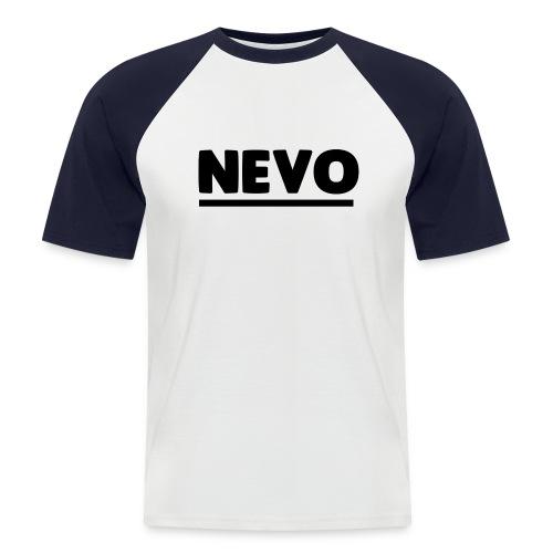 Large Text Nevo Baseball Tee - Men's Baseball T-Shirt