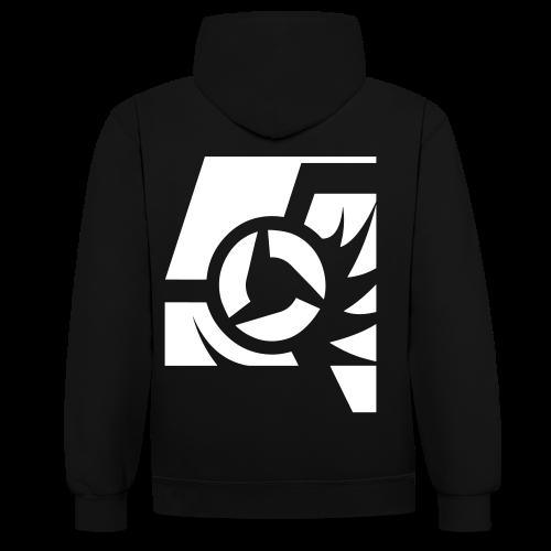 Hoodie 2 (Logo Back) Uni - Kontrast-Hoodie