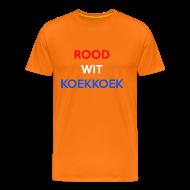 T-shirts ~ Mannen Premium T-shirt ~ Rood Wit Koekkoek Koningsdag shirt