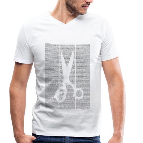 «Kleider machen Leute» T‑Shirt (Jungs) - Männer Bio-T-Shirt mit V-Ausschnitt von Stanley & Stella