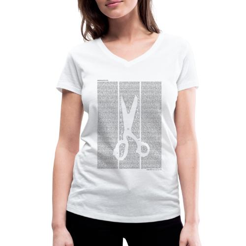 «Kleider machen Leute» T‑Shirt (Mädels) - Frauen Bio-T-Shirt mit V-Ausschnitt von Stanley & Stella