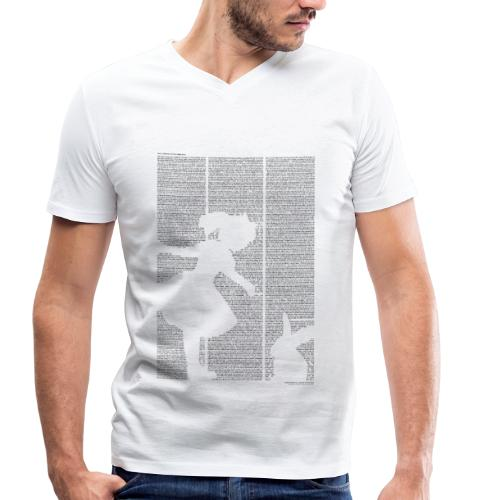 «Alice im Wunderland» T‑Shirt (Jungs) - Männer Bio-T-Shirt mit V-Ausschnitt von Stanley & Stella