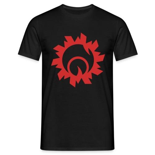 Bullethole logo, red - Herre-T-shirt