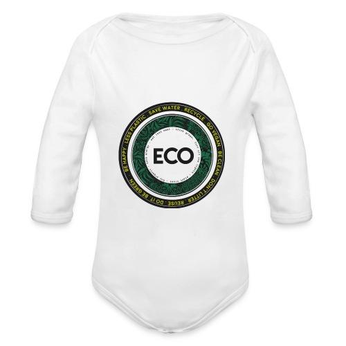 Baby grow Eco - Organic Longsleeve Baby Bodysuit