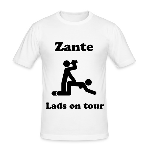 Zante - lads on tour - Men's Slim Fit T-Shirt