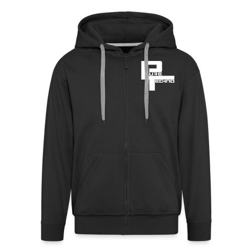 PURE TECHNO Hoodie - Männer Premium Kapuzenjacke