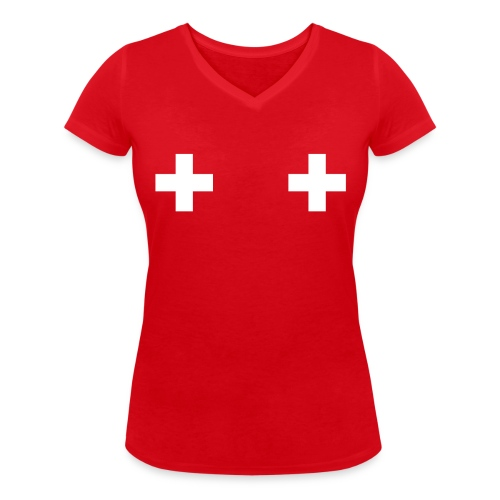 Swiss Boobs - T-shirt bio col V Stanley & Stella Femme