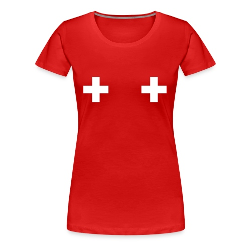 Swiss Boobs - T-shirt Premium Femme