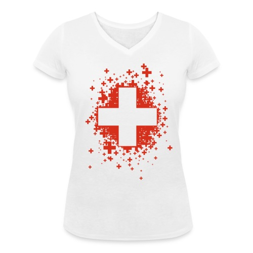 Swiss Stars - T-shirt bio col V Stanley & Stella Femme