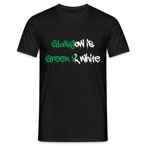 Glasgow is green and white - Men's T-Shirt