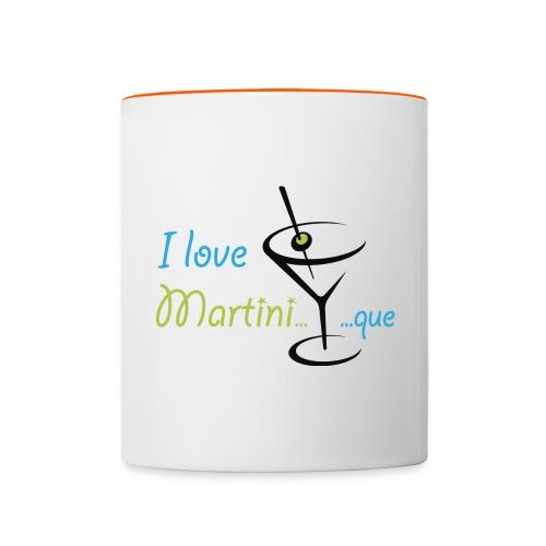 Mug bicolore I Love Martini...que - Mug contrasté