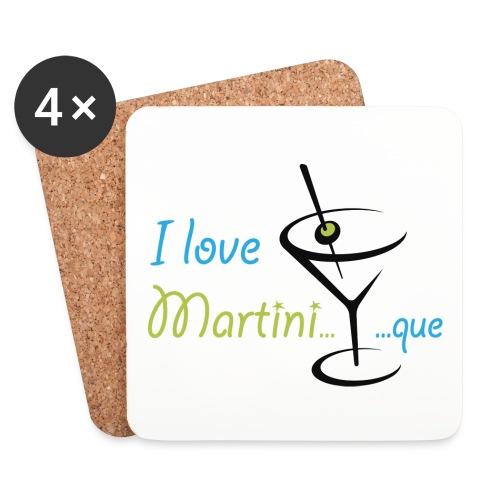 Sous-verres I Love Martini...que - Dessous de verre (lot de 4)
