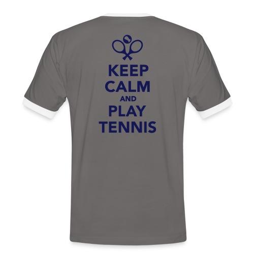 T-Shirt Keep Calm… - Männer Kontrast-T-Shirt