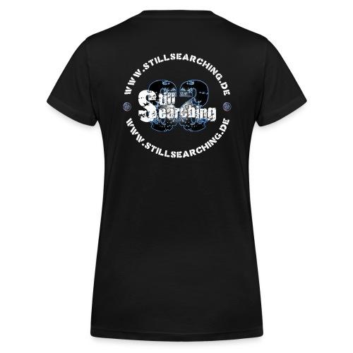 Logo/Web hinten - Frauen Bio-T-Shirt mit V-Ausschnitt von Stanley & Stella
