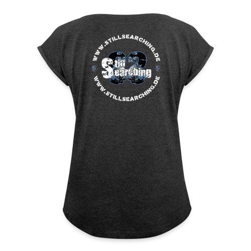 Logo/Web hinten - Frauen T-Shirt mit gerollten Ärmeln