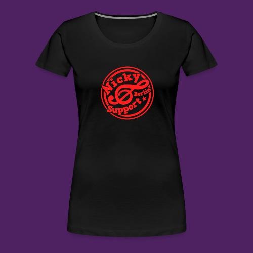Girlishirt schwarz/rot - Frauen Premium T-Shirt