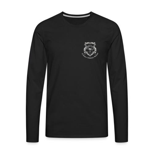 Crookes Whiskey Society long-sleeved t-shirt (black, small crest) - Men's Premium Longsleeve Shirt