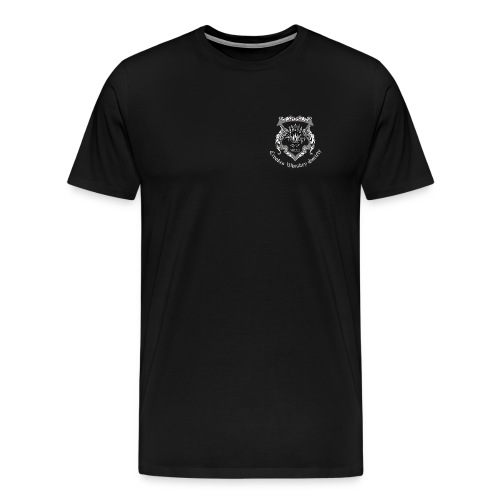 Crookes Whiskey Society t-shirt (black, small crest) - Men's Premium T-Shirt