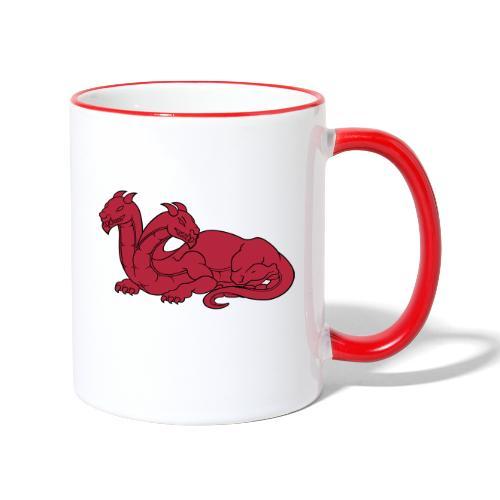 dragon à deux têtes - Mug contrasté