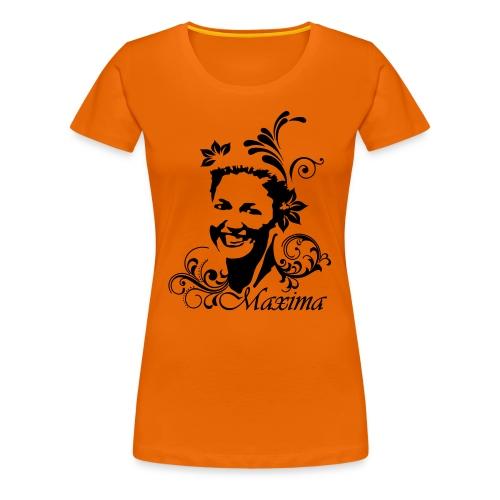 Girlie dames shirt voor Koningsdag met Maxima opdruk - Vrouwen Premium T-shirt