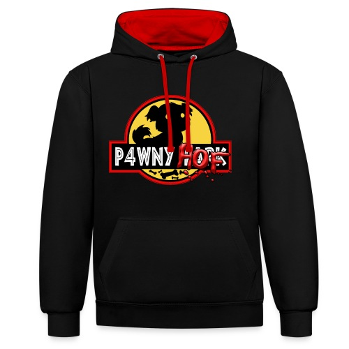 P4WNYPARK CONTRAST HOODIE - Contrast Colour Hoodie
