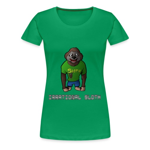 IrrationalSloth Design 2 (Womens T shirt) - Women's Premium T-Shirt