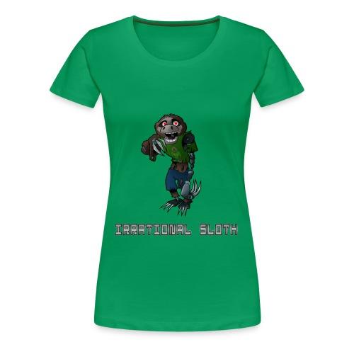 IrrationalSloth Design 1 (Womens T shirt) - Women's Premium T-Shirt