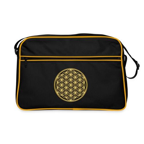 Blume des Lebens Gold - Tasche - Retro Tasche