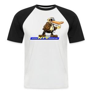 Das 2-farbige unter den Forenshirts! - Männer Baseball-T-Shirt