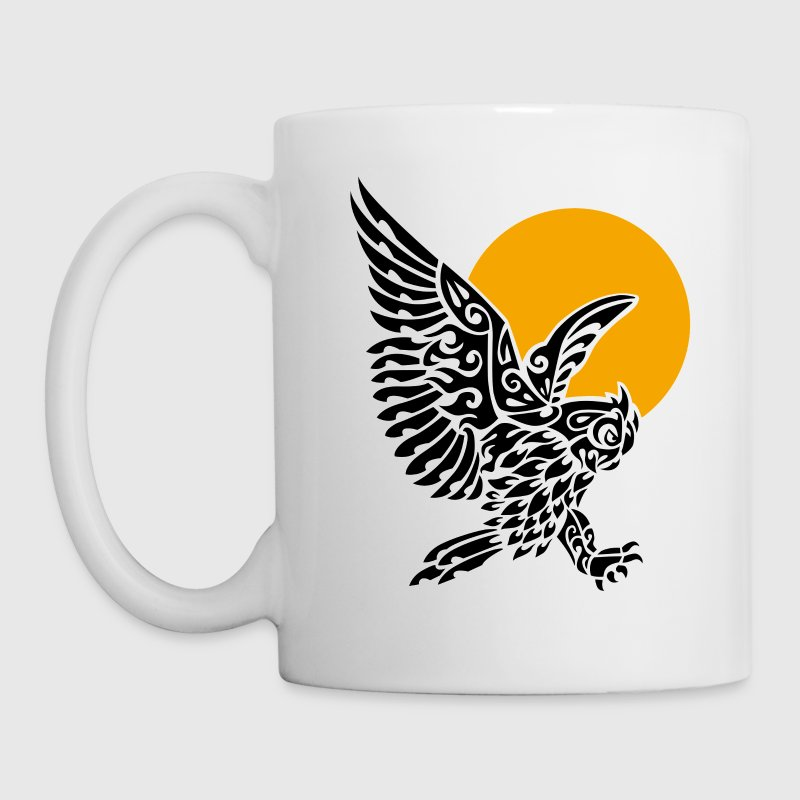 Great horned owl tribal tattoo - Mug