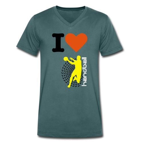 Hadnball - Men's Organic V-Neck T-Shirt by Stanley & Stella