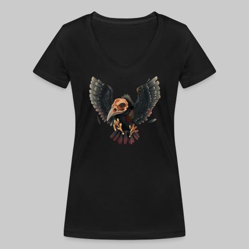 V-Shirt (W) Geiersen Logo - Frauen Bio-T-Shirt mit V-Ausschnitt von Stanley & Stella