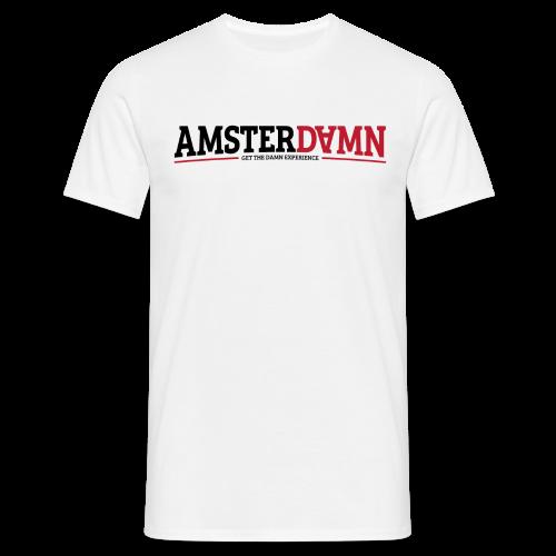 AMSTERDAMN White T-shirt  - Mannen T-shirt