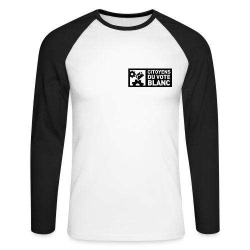 T-shirt manche longue Recto-Verso - T-shirt baseball manches longues Homme