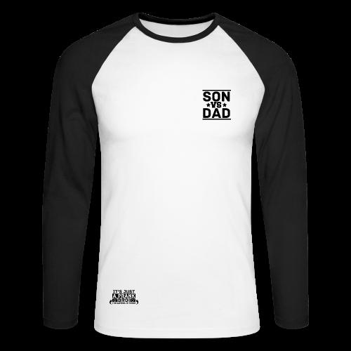 DadVsSon tiger logo ♠ Men's Long Sleeve Baseball T-shirt - Men's Long Sleeve Baseball T-Shirt