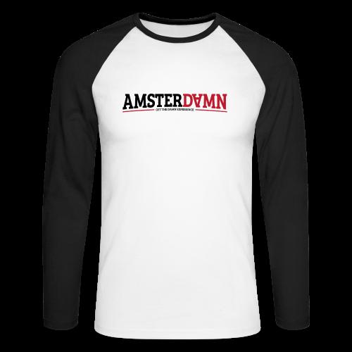 AMSTERDAMN Baseball Shirt - Mannen baseballshirt lange mouw