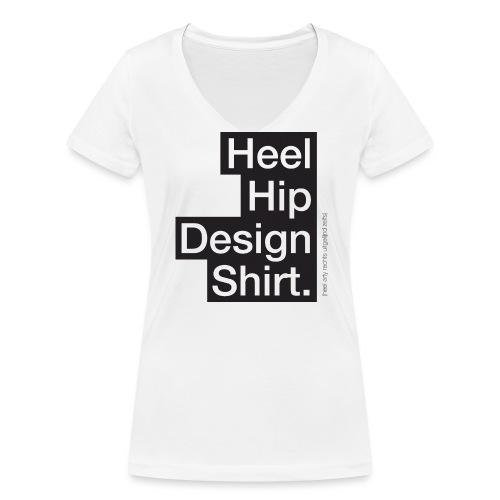 Hip Design vrouwen v-hals bio - Vrouwen bio T-shirt met V-hals van Stanley & Stella