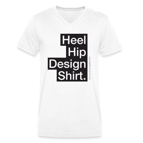 Hip Design mannen v-hals bio - Mannen bio T-shirt met V-hals van Stanley & Stella