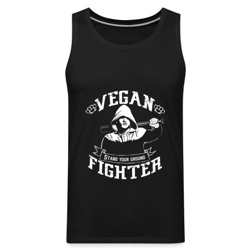 Vegan fighter tank top - Débardeur Premium Homme