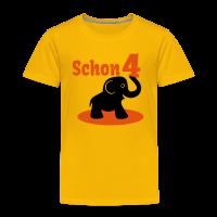 Elefant 4. Geburtstag T-Shirt
