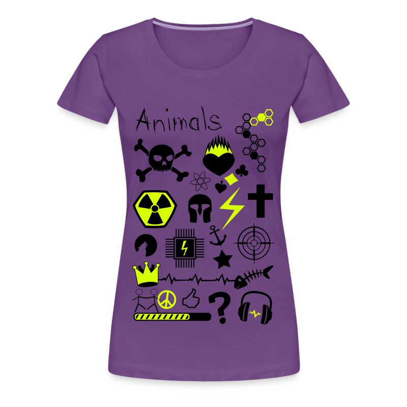 party animals symbole muster chaos lustig comic t shirt. Black Bedroom Furniture Sets. Home Design Ideas