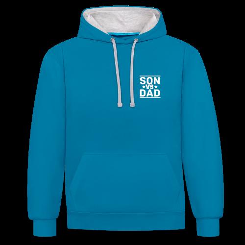 SonVsDad ♠ Contrast Colour Hoodie - Contrast Colour Hoodie
