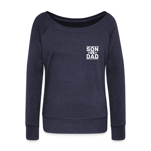 SonVsDad ♠ Women's Boat Neck Long Sleeve Top - Women's Boat Neck Long Sleeve Top